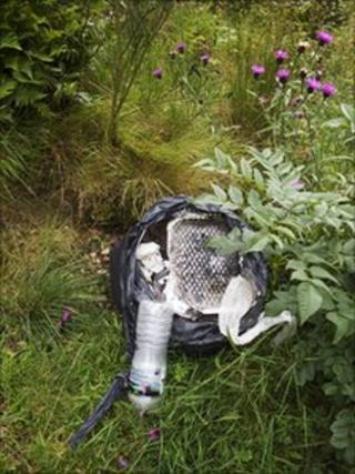 Rubbish at Loch Lubnaig
