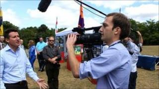 Lord Coe with Surrey Community Film Unit