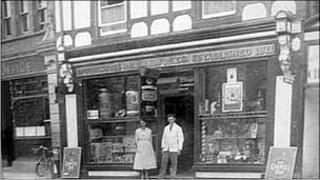 A photo of the pharmacy about 70 years ago