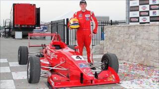 Wayne Boyd with Belardi Auto Racing car