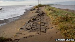 Damage to the road to Spurn Point pic: Darren Clarke