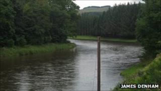River Tweed at Boleside - Image by James Denham