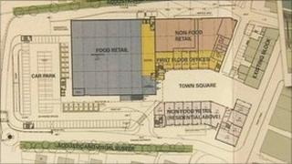 Prudhoe town centre proposed plans