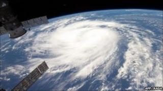 Hurricane Katia satellite view