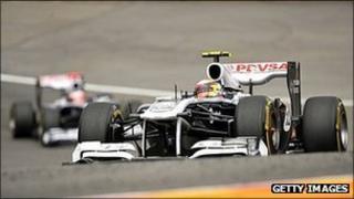 Williams lead driver Rubens Barrichello