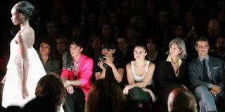 Bryanboy with camera on the front row at New York Fashion Week 2010
