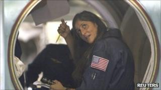 Us Astronaut Sunita Williams during a training session on 4 Aug 2011
