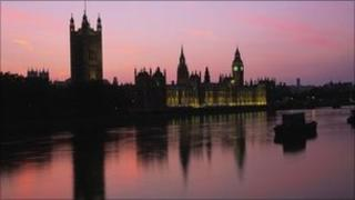 Palace of Westminster from the River Thames