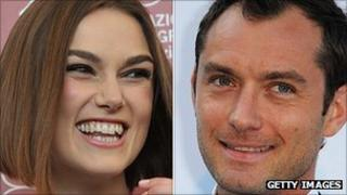 Keira Knightley and Jude Law