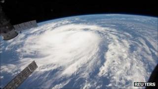 Hurricane Katia from International Space Station