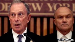 Michael Bloomberg and Raymond Kelly