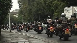 Motorcyclists in Plymouth