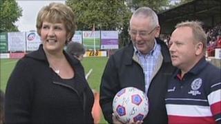 Sue and Tom Clare at Aldershot