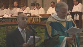 Winchester Cathedral service