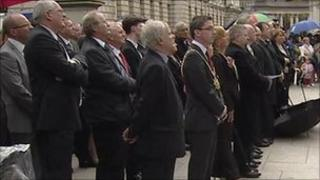 Belfast Lord Mayor Niall O Donnghaile was among those paying tribute