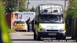 Police at Greenacres travellers' site