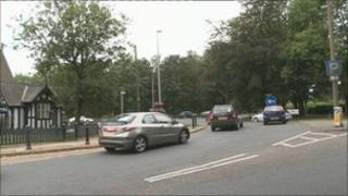 Scene of crash in Worsley