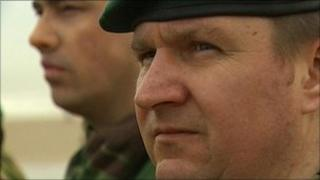 "Colour Sgt Paul ""Baz"" Barrett (right) and Cpl Jay Hare"