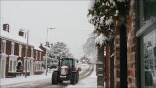 Road clearing in Barton