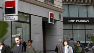 French banks on high street