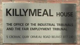 Industrial tribunal sign, Belfast
