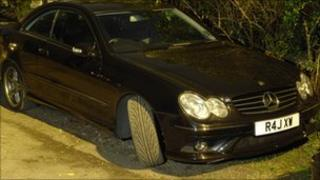 The stolen Mercedes