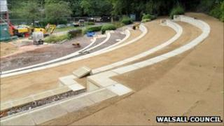 New bandstand seating terraces