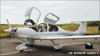 Light aircraft (pic courtesy of UK Border Agency)