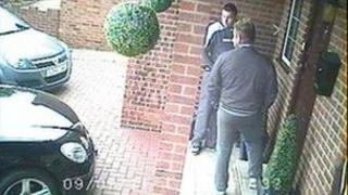 Robbers on front doorstep