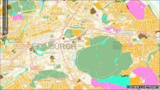 Greenspace Scotland map (Crown Copyright - all rights reserved Ordnance Survey)