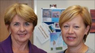Connie Helyar and Michelle Johansen