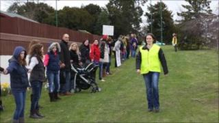 Protests at the Royal Shrewsbury Hospital