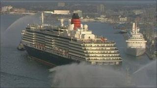 Cruise ships in Southampton