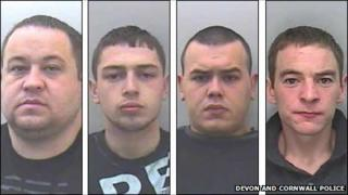 (Left to right) James Brooks, John Bullock, Billy Dowling and Anthony McStein
