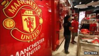 Manchester United shop in Bangkok