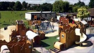 The playground at Tolworth Infant & Nursery School