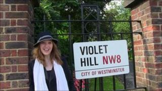 June Caravel and Violet Hill sign