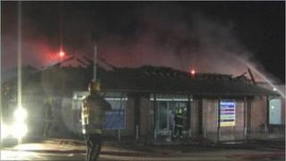 Tesco Express and pharmacy destroyed by fire