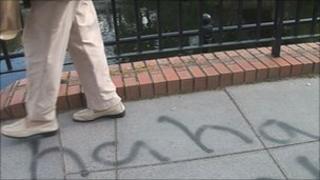 Graffiti on bridge in Taunton