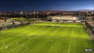 Artist impression of the Manchester City training academy