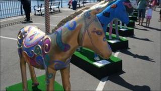 Painted donkeys