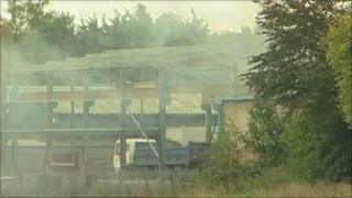 Fire at Lowmoor Business Park
