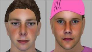 E-fits of the two attackers