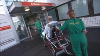 Paramedics and patient