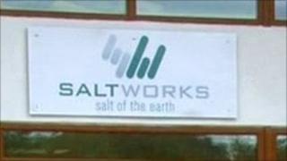 Saltworks sign