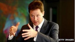 Nick Clegg at the 2011 Liberal Democrat conference