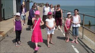 Children and family members of Little Havens Hospice on Clacton seafront