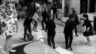 Archive image from 1962 BBC dance competition for the Twist