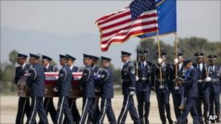 Funeral of US soldier killed in helicopter crash