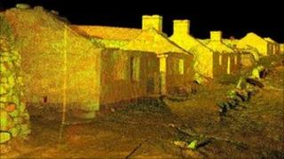 3D image of ruined properties in Village Bay. Pic: Historic Scotland/Glasgow School of Art